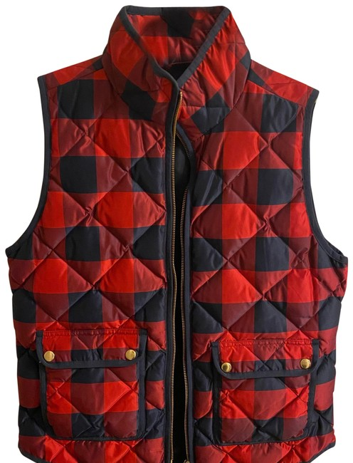 Item - Navy and Red & Buffalo Plaid Puffy Down Vest Size 4 (S)
