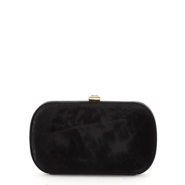 Item - Box With Crystals Small Black Velvet Clutch