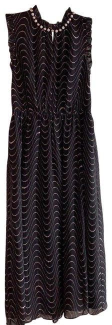 Item - Black and Taupe Evening Mid-length Formal Dress Size 0 (XS)