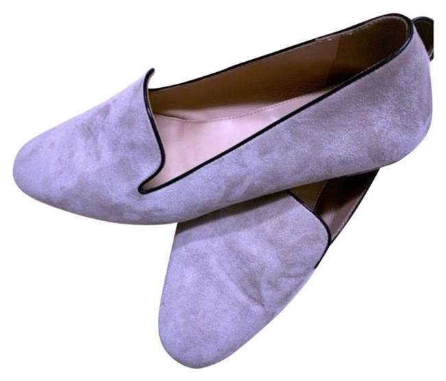 Item - Gray Black Suede Smoking Slippers / Loafers Flats Size US 7.5 Regular (M, B)