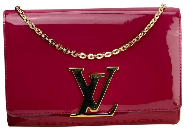 Item - Magenta A575 Pink Vernis Leather Clutch