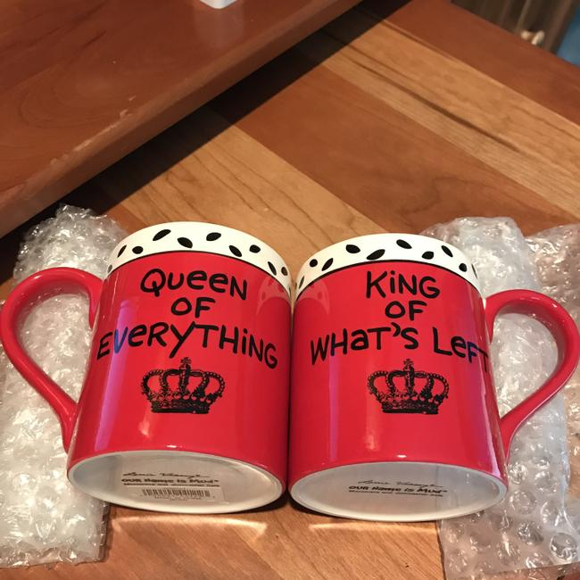 Item - Red White W/Black Queen Of Everything/King Of What's Left Casual China