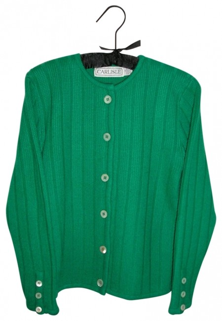 Preload https://img-static.tradesy.com/item/28001/carlisle-kelly-green-cashmere-classic-cardigan-size-8-m-0-0-650-650.jpg