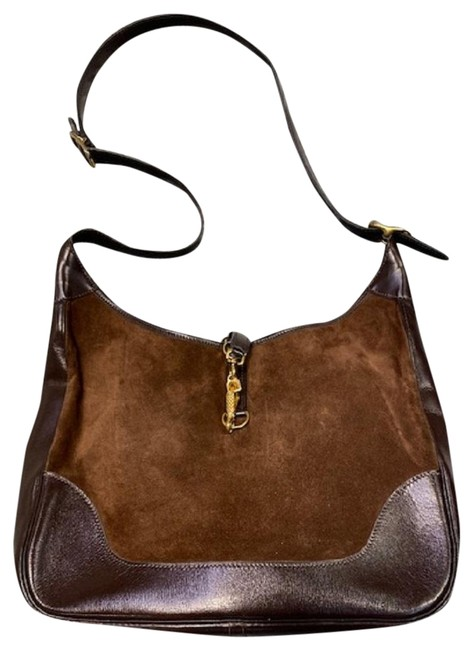 Item - Shoulder Brown Leather with Suede Accent Hobo Bag