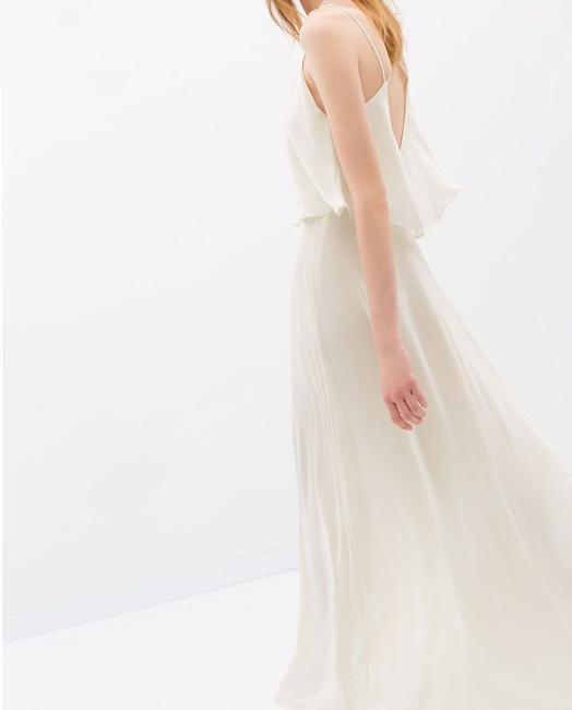 Item - Ivory Chiffon Maxi Boho Casual Wedding Dress Size 2 (XS)