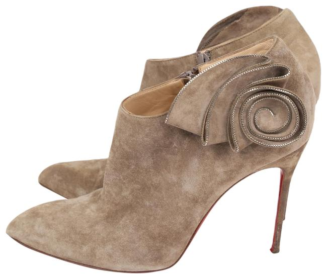 Item - Brown Suede Zipper Trim Floral Ankle Boots/Booties Size US 11 Regular (M, B)