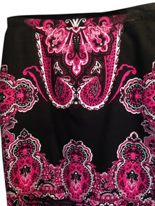 INC International Concepts Skirt Multi - Black, Pink