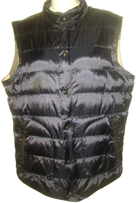 Item - Black Quilted with Check Lining Vest Size 12 (L)