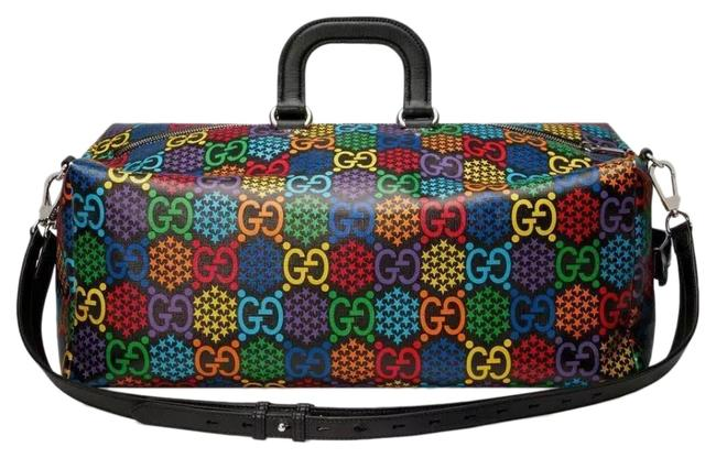 Item - Duffle Limited Edition Psychedelic Multi-color Leather and Coated Canvas Weekend/Travel Bag