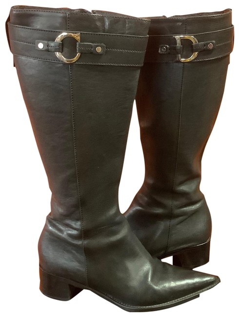 Item - Black Signature Cd Letters Boots/Booties Size EU 37.5 (Approx. US 7.5) Narrow (Aa, N)