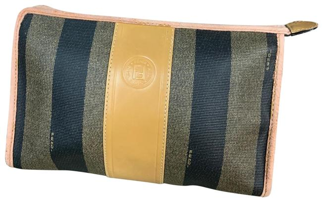 Item - Brown/ Gold / Black Clutch Vintage Monogram Large Cosmetic Bag