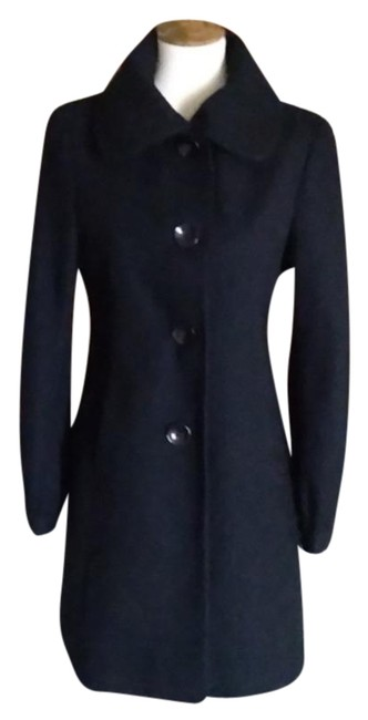 Item - Black Wool Blend Coat Size 8 (M)