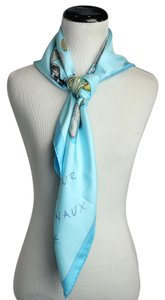 Hermès Light Blue Summer Stone Aphorisme Square Scarf