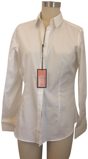 Item - White Classic Fitted Button-down Top Size 8 (M)