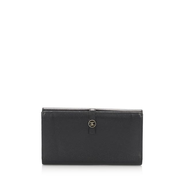 Chanel Black Long Cc Leather Wallet Chanel Black Long Cc Leather Wallet Image 1