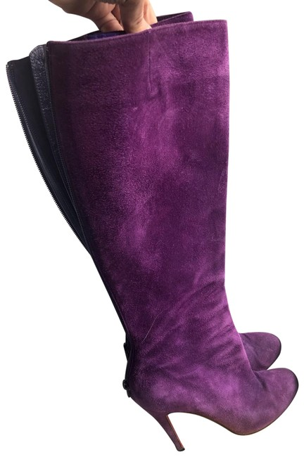Item - Purple Suede 100mm Babel Boots-38.5 Boots/Booties Size US 8.5 Regular (M, B)