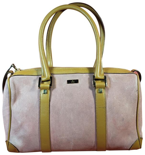 Item - Suede Pink & Gold Leather Satchel