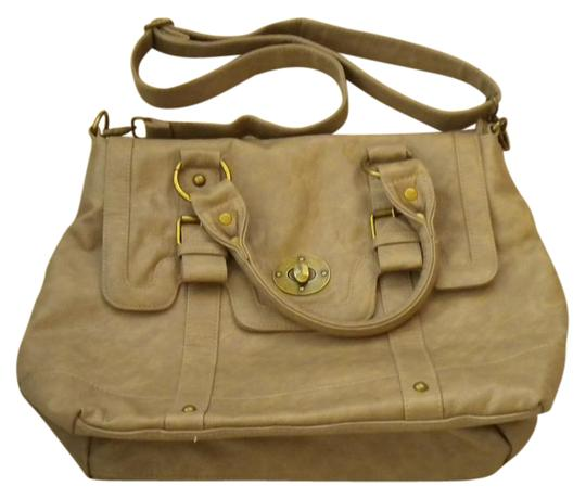 Preload https://item5.tradesy.com/images/poppie-jones-satchel-taupe-faux-leather-messenger-bag-280034-0-2.jpg?width=440&height=440