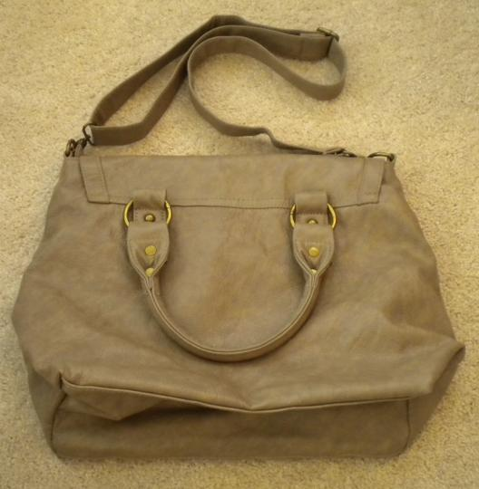 Poppie Jones Taupe Messenger Bag