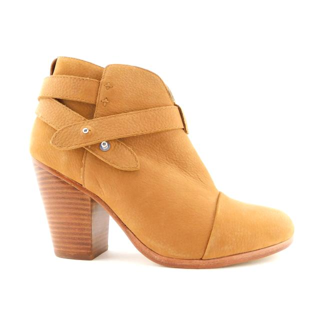 Item - Tan Beige Leather Strapped Cap Toe Block-heel Ankle Boots/Booties Size EU 39 (Approx. US 9) Regular (M, B)