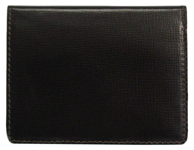 Item - Dark Brown Leather Card Case Wallet