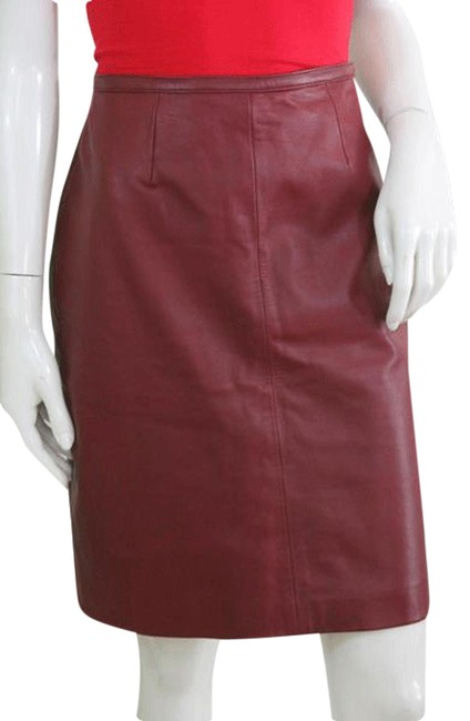 Item - Red Leather Above Sku 000074 Skirt Size 12 (L, 32, 33)