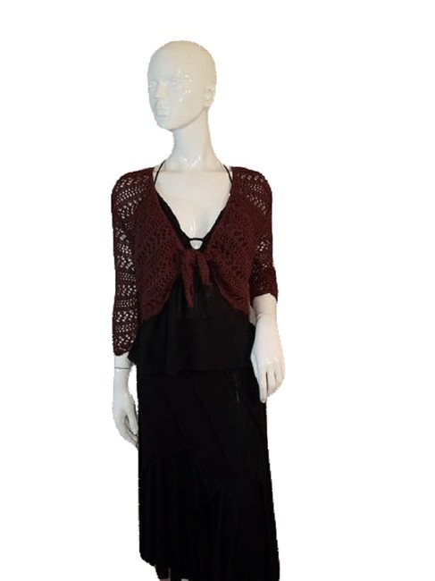 Item - Brown Knitted Lacey S/M Sku 000128 Button-down Top Size 6 (S)