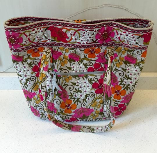 Vera Bradley Tote in Pink White Yellow Green And Orange