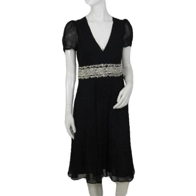 Item - Black Gold Embroidery Pattern On The Waist S Night Out Dress Size 8 (M)