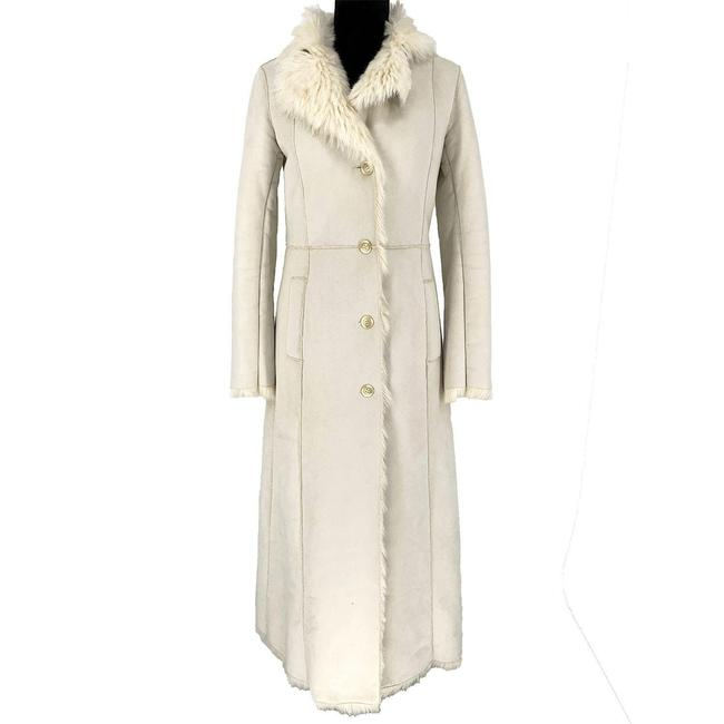 Item - Ivory Faux Shearling Patch Valli B Coat Size 4 (S)