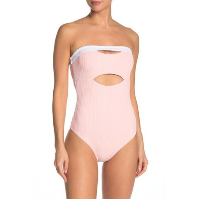 Item - Pink White Natalie One-piece Bathing Suit Size 4 (S)