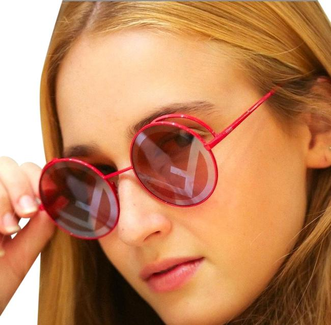 Item - Red rama Rounded Frame Metal Ff0343s - C9a0l Sunglasses