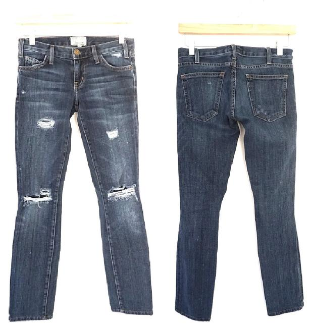 Item - Blue Distressed The Loved Destroyed Skinny Jeans Size 24 (0, XS)