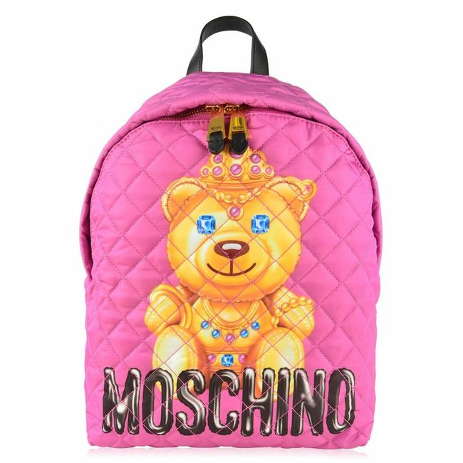 Item - Ss17 Quilted Crown Teddy Bear Pink Polyester Backpack