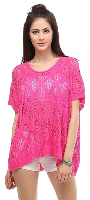 Preload https://item3.tradesy.com/images/hot-pink-spring-sweater-tunic-size-os-one-size-2800477-0-0.jpg?width=400&height=650