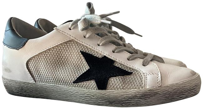 Item - White and Black Sneakther Superstar Flats Size EU 36 (Approx. US 6) Regular (M, B)