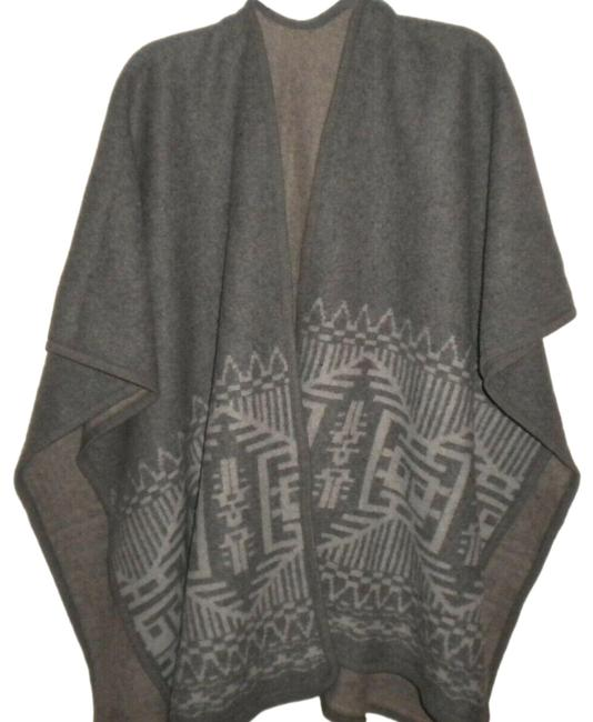 Products Women Os Wrap Poncho Cape Gray Sweater Products Women Os Wrap Poncho Cape Gray Sweater Image 1
