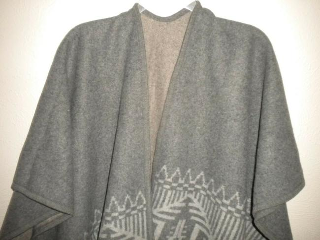 Products Women Os Wrap Poncho Cape Gray Sweater Products Women Os Wrap Poncho Cape Gray Sweater Image 3