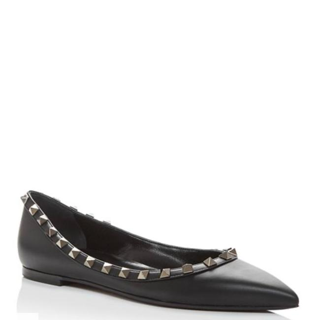 Item - Black/Silver Garavani Rockstud Pointed-toe Flats Size US 5.5 Regular (M, B)