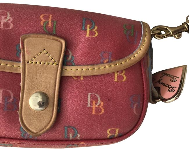 Item - And Leather Multi Color Coated Canvas Wristlet