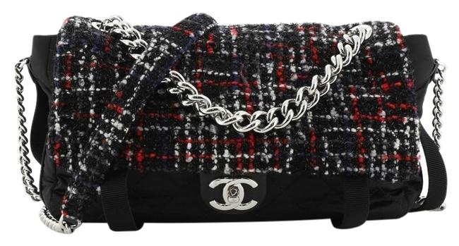 Chanel Classic Flap Astronaut Essentials Tweed with Quilted Medium Multicolor Nylon Shoulder Bag Chanel Classic Flap Astronaut Essentials Tweed with Quilted Medium Multicolor Nylon Shoulder Bag Image 1