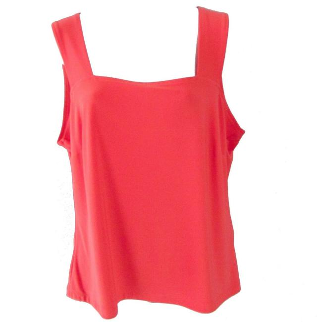 Item - Coral Red Square Neck Activewear Top Size 14 (L)