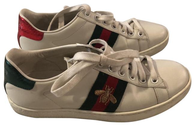 Item - White Red Green Gold Ace Tennis Sneakers Size EU 36.5 (Approx. US 6.5) Regular (M, B)
