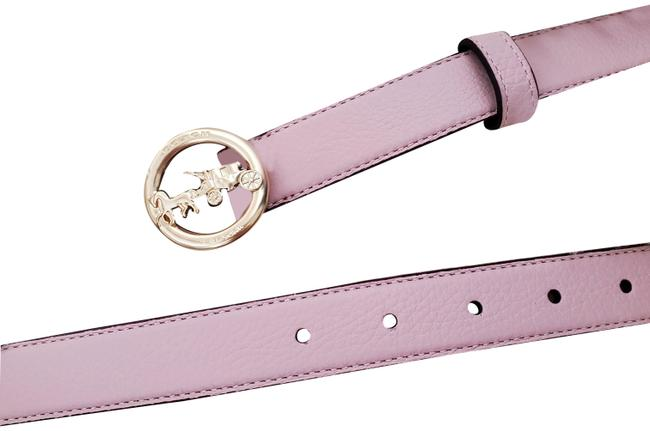 Item - Pink New Gold Logo Slim Skinny Waist Leather Belt Hair Accessory