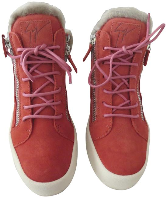 """Item - Peonia """"Rw70051"""" Shearling Lined Suede Ankle Top Sneakers Size EU 40 (Approx. US 10) Regular (M, B)"""
