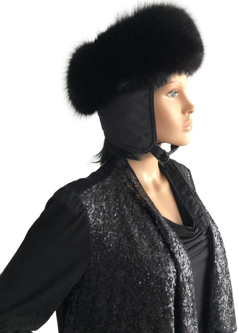 Item - Black Vintage Fur Hat