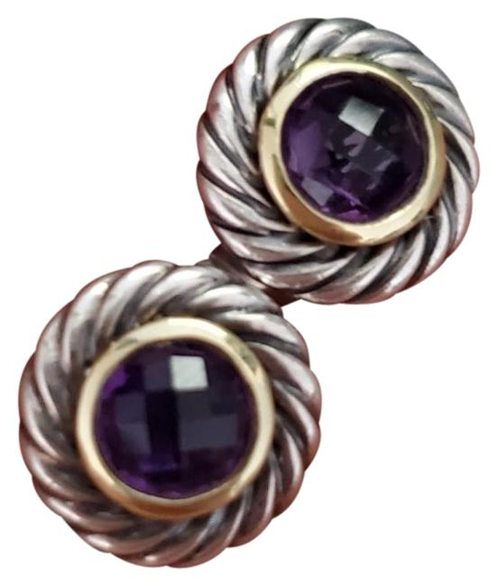 Item - Purple Cable Amethyst Cookie Stud Earrings