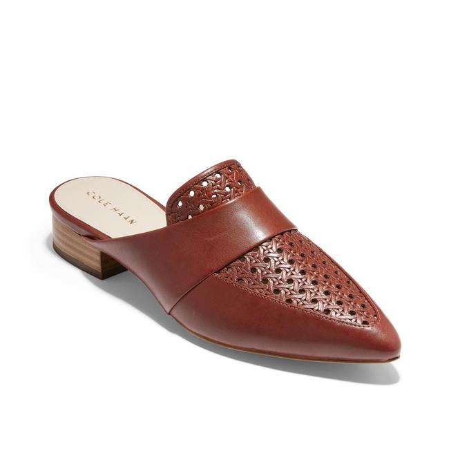 Item - Brown Marlee Pointed Toe Woven Leather Mules/Slides Size US 8 Regular (M, B)