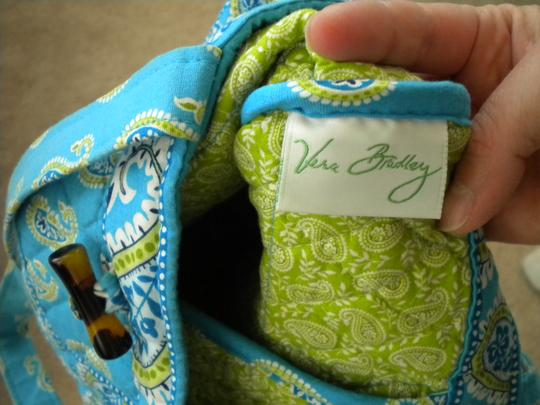 Vera Bradley Tote in Bermuda Blue-retired color
