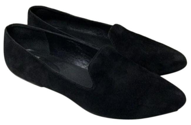 Eileen Fisher Black Suede Loafer Flats Size US 8 Regular (M, B) Eileen Fisher Black Suede Loafer Flats Size US 8 Regular (M, B) Image 1